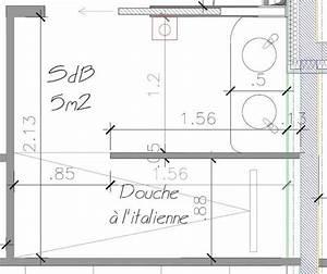 salle de bain plan salle de bain m avec douche With plan salle de bain douche italienne
