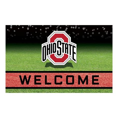 Ohio State Doormat by Fanmats Ohio State 18 In X 30 In Rubber Door