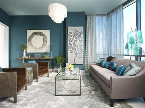 serene and inviting contemporary blue living room hgtv