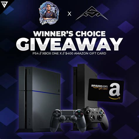 If you can not use amazon ps4 gift card to pay for the purchase in the store or your card is damaged, but there is a balance on your card and the card has not expired, we ask you to contact our support. Win your choice of a PS4, Xbox One X or $400 Amazon Gift Card from LuckyShots & Officer Stealth ...