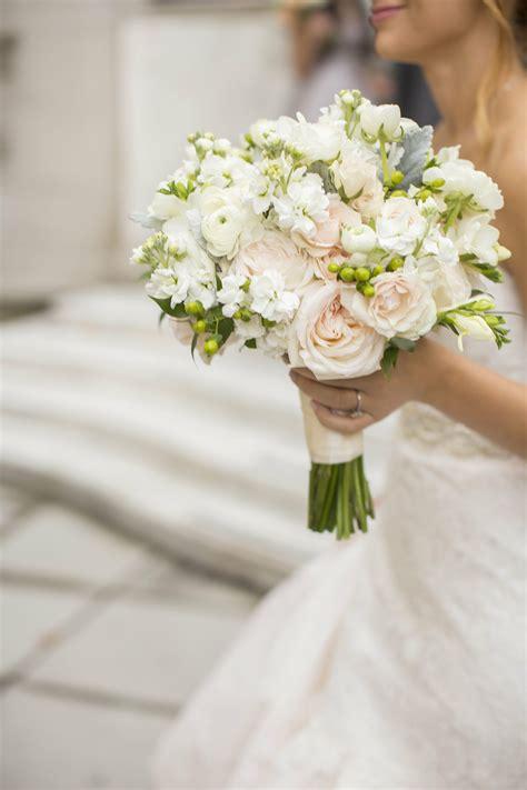 pale pink  white bridal bouquet