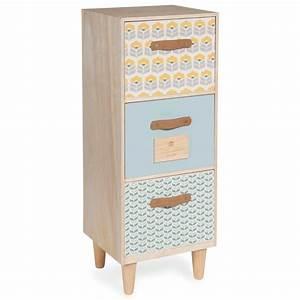 Maison Du Monde Petit Meuble : petit meuble 3 tiroirs henriette maisons du monde ~ Dailycaller-alerts.com Idées de Décoration