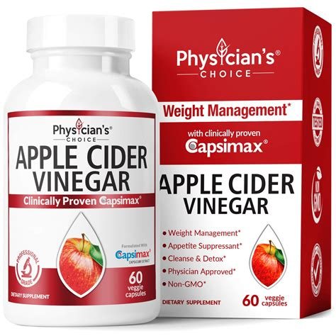 Apple Cider Vinegar Capsules for Weight Loss Support ...