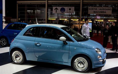 felgen fiat 500 fiat 500 retrowagen mit tollen retro felgen ausgestellt auf dem genfer autosalon 2015