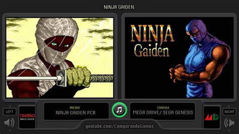 Ninja Gaiden Arcade Vs Sega Genesis Side By Side