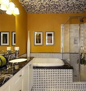 peinture salle de bain 80 photos qui vont vous faire craquer With peinture plafond salle de bain