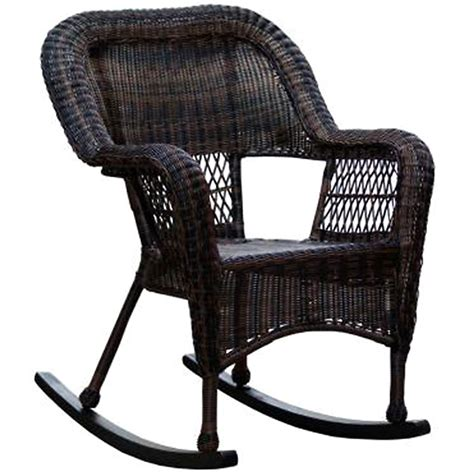 patio furniture rocking chair pict brown wicker outdoor patio rocking chair at home