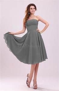 grey simple a line sleeveless backless pleated wedding With simple dress for wedding guest