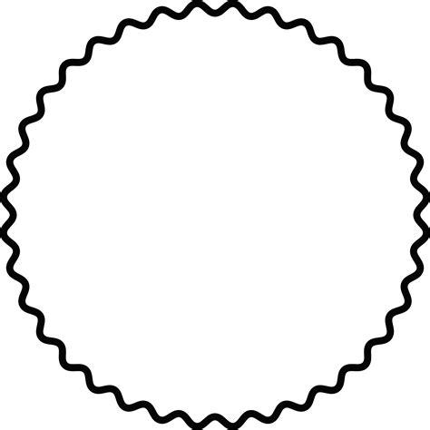 Scalloped Circle Vector at GetDrawings Free download