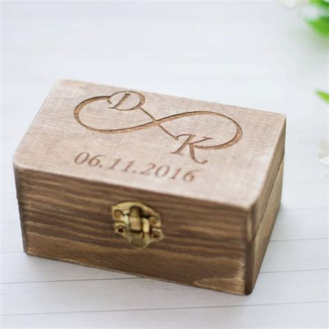 wedding ring box rustic wedding ring holder personalized bearer wedding ceremony ring box