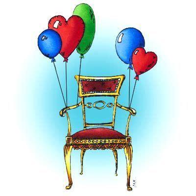 flying balloon chair digi stamp  digital images