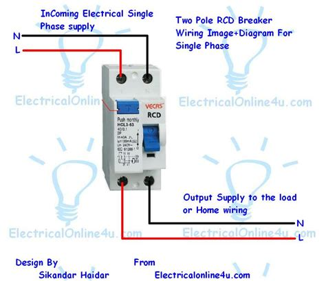 How Pole Fixed Rcd Wiring For Protection