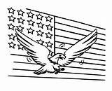 Flag Coloring Eagle Printable Usa Bestcoloringpagesforkids Getcoloringpages Sheets Whitesbelfast sketch template