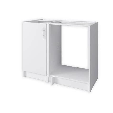 meuble d angle cuisine obi meuble d 39 angle de cuisine réversible 100 cm blanc