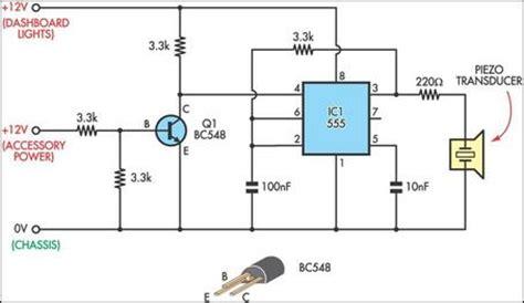 headlight reminder circuit diagram