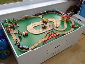 Wooden Train Table Carousel Wooden Train Table With 100 Piece Train