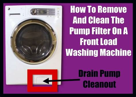 whirlpool he washer how to clean filter on a front load washer drain