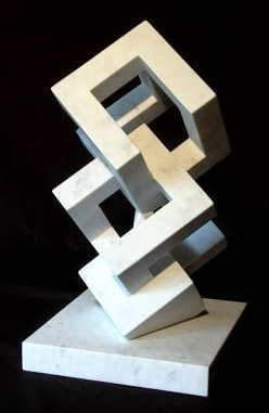 Abstract Shapes Sculpture by Lines And Angle Are Prominent In This I