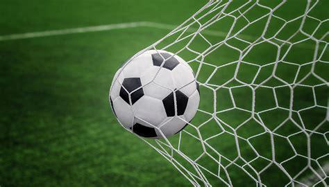 soccer ball  goal  net  green background