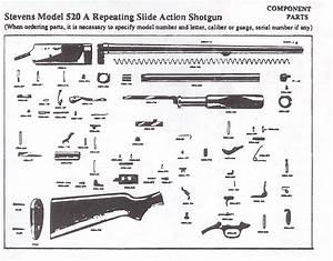 Stevens Mod 520-30 Us Marked 12 Gauge