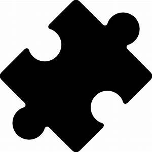 Black rotated puzzle piece Icons | Free Download