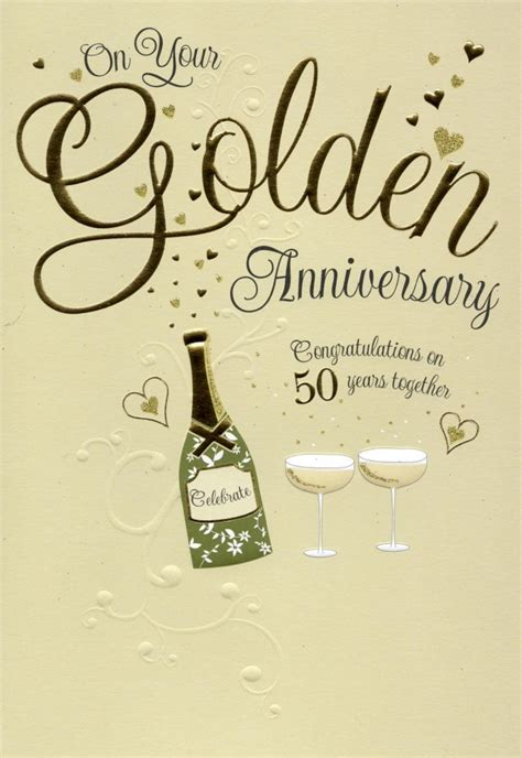 50th anniversary on your golden 50th anniversary greeting card cards