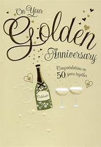on your golden 50th anniversary greeting card cards With 50th wedding anniversary wishes