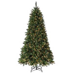 shop holiday living 7 5 ft pine pre lit artificial christmas tree 600 clear incandescent lights