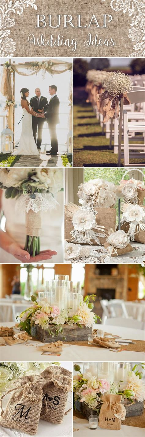 55 Chicrustic Burlap And Lace Wedding Ideas  Deer Pearl