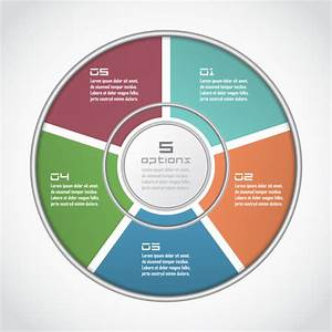 Infographic Circle In Thin Line Flat Style  Business