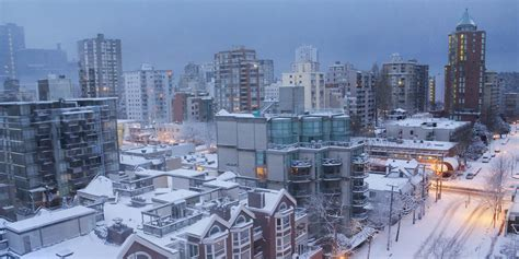 snow in vancouver expected