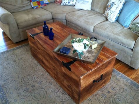 wood shipping crate coffee table  reclaimedbychuck