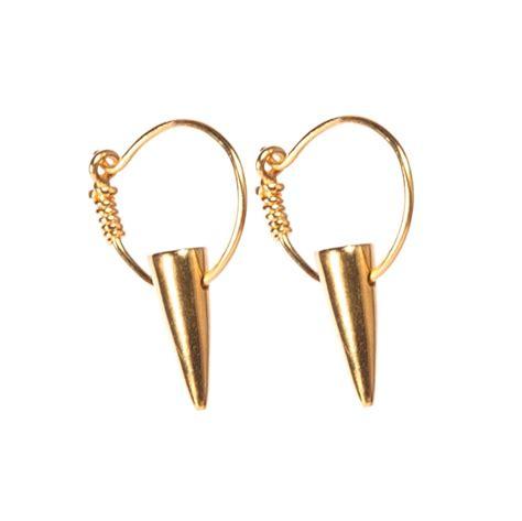 tusk gold hoop earrings i and i jewellery ltd
