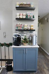 Coffee, Bars, In, Kitchen, Are, A, Must, Have, In, 2019, We, Love, This, One, With, The, Floating, Shelves, And