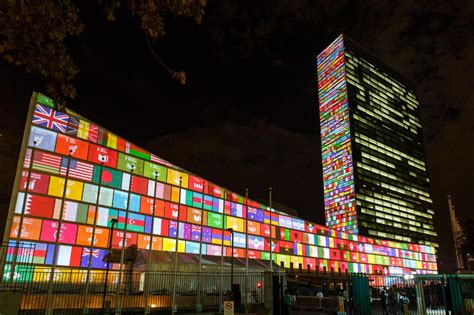 si鑒e onu york obiettivi di sviluppo sostenibile le proiezioni sulla sede onu a york foto