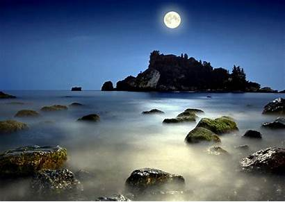 Moon Sea Moonlight Night Magical Magic Desktop