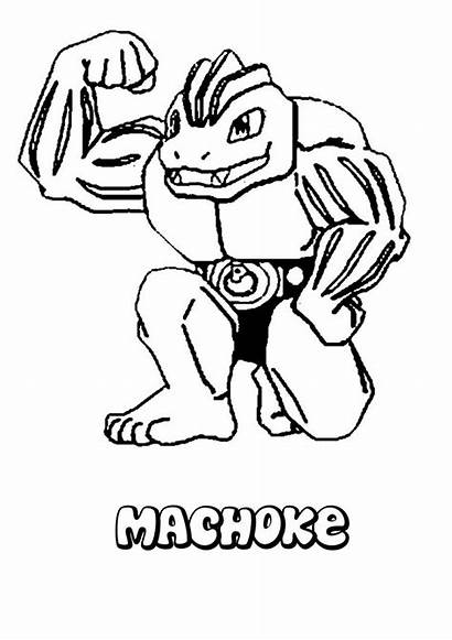 Pokemon Machoke Coloring Dibujos Colorear Lapiz Coloriage