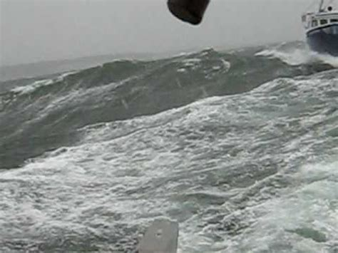 Lobster Boat In Rough Seas by Dixon 50 X 24 Youtube