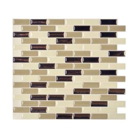 home depot wall tile smart tiles murano dune 10 20 in x 9 10 in peel and