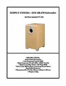 Jbl Scs 138 Sub  Serv Man12  Service Manual  U2014 View Online
