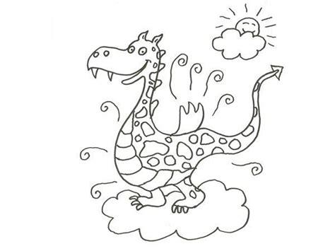 dibujo de  dragon de cuento  colorear  los ninos