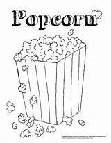 Popcorn Coloring Printable Template Bag Sheets Kernel Sheet Printabletemplates Coloringtop sketch template