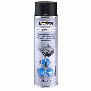 Peinture Noir Mat : bombe de peinture noir mat norauto 500 ml ~ Carolinahurricanesstore.com Idées de Décoration