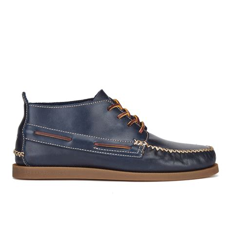 Sperry Menu0026#39;s A/O Wedge Leather Chukka Boots - Navy - Free UK Delivery over u00a350