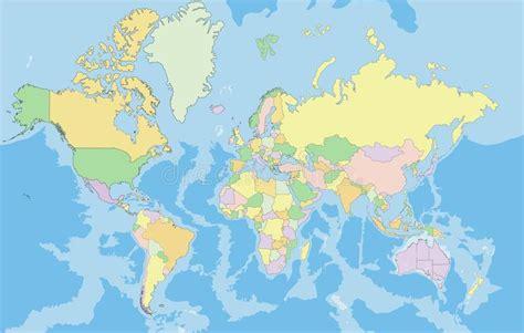 in hohem grade in hohem grade ausf 252 hrliche politische karte der welt stock abbildung bild 55855322