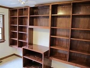 Handmade Built-In Bookshelves by Carolina Woodworking