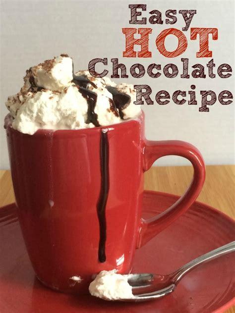 homemade hot chocolate good food  family fun