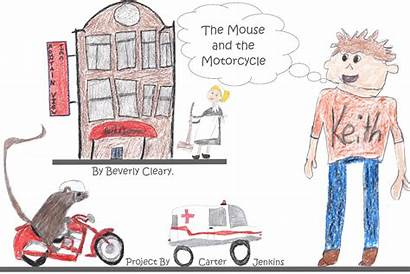 Mouse Drawing Motorcycle His
