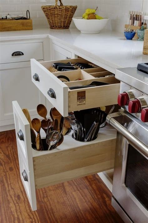 kitchen cabinet drawers for custom in drawer knife block and utensil storage drawer in 7824