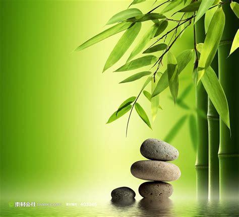 水疗spa广告背景图片--竹子图片和禅石
